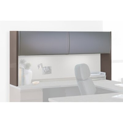 36 H x 72 W Desk Hutch Finish: Medium Tone / Greytone / Warm Gray