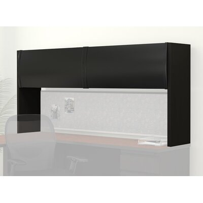 38 H x 72 W Desk Hutch Finish: Black / Black Product Image 1029