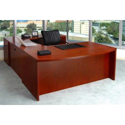 Mayline Mira Series U-Shape Executive Desk - Finish: Espresso