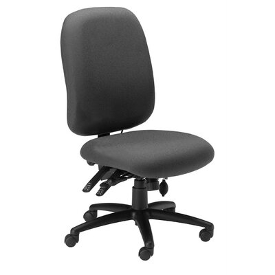 Mid-Back Fabric Performance Chair Color: Gray / Charcoal Product Photo 1101