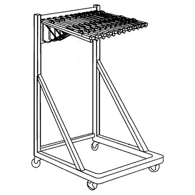 Vertical File Rolling Stand Size: 36 W