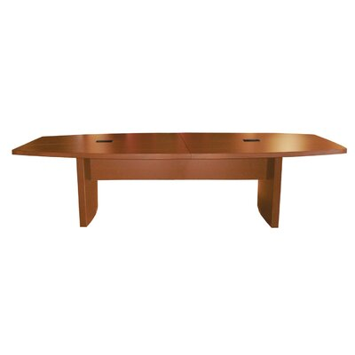 Gilberton Boat Shaped Conference Table Finish: Mocha, Size: 10 L