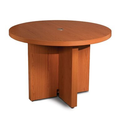 Aberdeen Circular 29.5H x 42W x 42L Conference Table Finish: Cherry