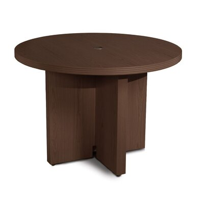 Aberdeen Circular 29.5H x 42W x 42L Conference Table Finish: Mocha