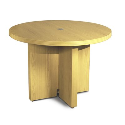 Aberdeen Circular 29.5H x 42W x 42L Conference Table Finish: Maple