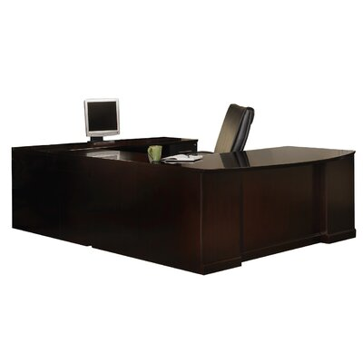 Sorrento Series U-Shape Executive Desk Finish: Espresso Veneer, Orientation: Right