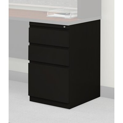 28 H x 15 W Desk File Pedestal Finish: Black, Size: 28 H x 15 W x 30 D