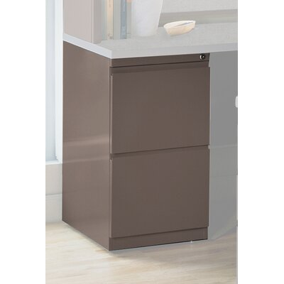28 H x 15 W Desk File Pedestal Finish: Medium Tone / Greytone, Size: 28 H x 15 W x 24 D