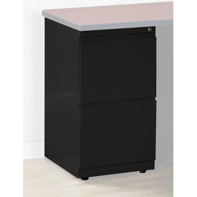 28 H x 15 W Desk File Pedestal Finish: Black, Size: 28 H x 15 W x 24 D