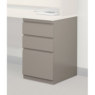 28 H x 15 W Desk File Pedestal Finish: Tech Silver, Size: 28 H x 15 W x 17.5 D