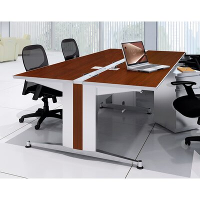 60 W Dual-Sided Training Table Tabletop Finish: Cherry