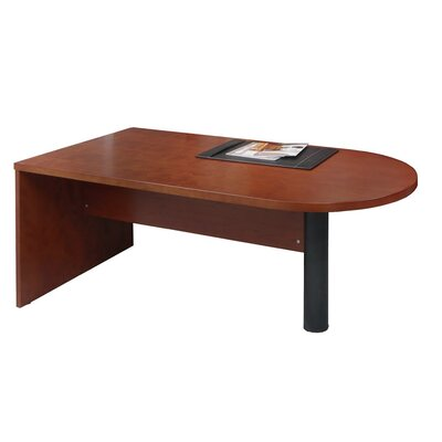 Mira Series 29.38 H x 72 W Desk Peninsula Finish: Medium Cherry