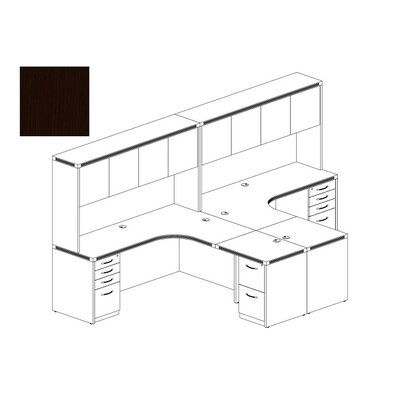 Aberdeen Series L-Shape Workstation Finish: Mocha