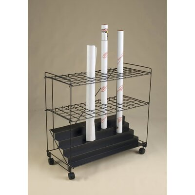 60 Compartment Roll File Cart RF60BLK