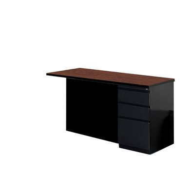 29 H x 48 W Right Desk Return Base Finish: Black, Top Finish: Crown Cherry / Black
