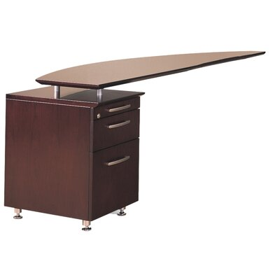 Napoli 29.5 H x 63 W Desk Return Finish: Mahogany Veneer, Orientation: Right