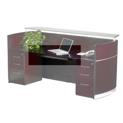 Napoli 30 W x 18 D Desk Drawer Finish: Mahogany Veneer