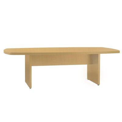 Luminary Series Curved End Conference Table Finish: Maple, Size: 6 L