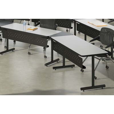 T-Mate Seminar Training Table with Wheels Tabletop Finish: Ice Gray