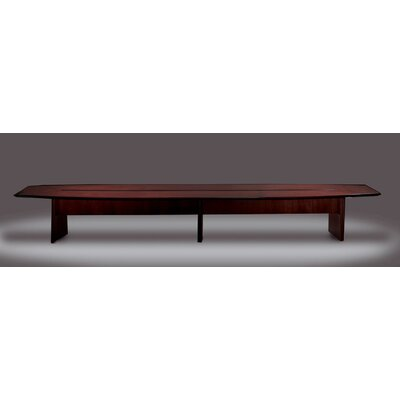 Corsica Series Boat Shaped Conference Table Finish: Mahogany, Size: 18 L