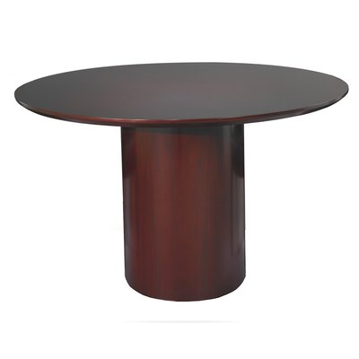Napoli Circular 29.5H x 48W x 48L Conference Table Finish: Mahogany with Walnut Veneer