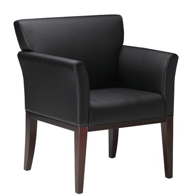 Leather Lounge Chair Frame Finish: Sierra Cherry Veneer