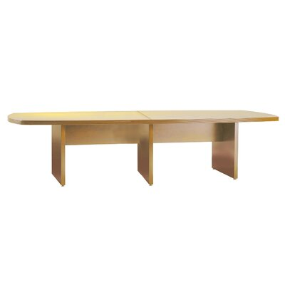 Luminary Series Curved End Conference Table Finish: Maple, Size: 12 L