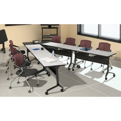 Flip-N-Go Seminar Training Table with Wheels Tabletop Finish: Ice Gray
