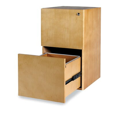 Luminary Series 27.75 H x 15 W Desk File Pedestal Finish: Maple, Number of Drawers: 2