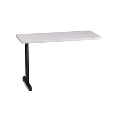 T-Mate 29 H Desk Peninsula Finish: Ice Gray, Size: 29 H x 48 W x 24 D