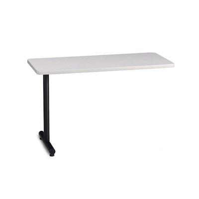 T-Mate 29 H Desk Peninsula Finish: Ice Gray, Size: 29 H x 60 W x 24 D
