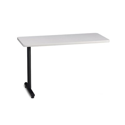 T-Mate 29 H Desk Peninsula Finish: Ice Gray, Size: 29 H x 72 W x 24 D