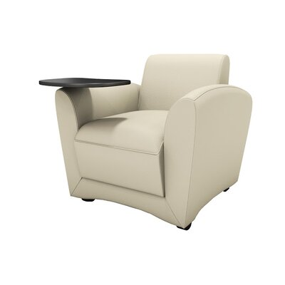 Leather Lounge Series Santa Cruz Mobile Leather Lounge Chair with Tablet Color: Almond