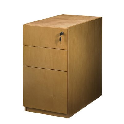 Luminary Series 27.75 H x 15 W Desk File Pedestal Finish: Maple, Number of Drawers: 3