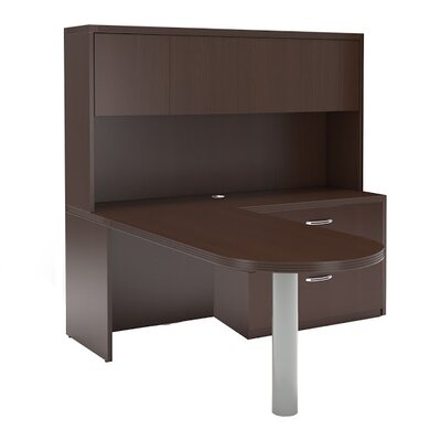 Aberdeen Series L Shape Computer Desk Hutch Image 671