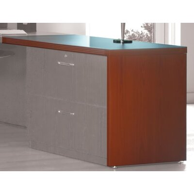 Aberdeen 29.5 H Right Desk Return Size: 36W x 24D x 29.5H, Finish: Cherry/Graphite