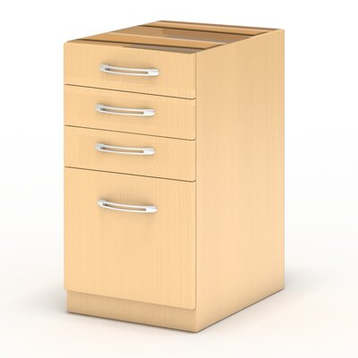 Aberdeen 27.5 H x 15.25 W Desk File Pedestal Finish: Maple, Size: 27.5 H x 15.25 W x 26.5D