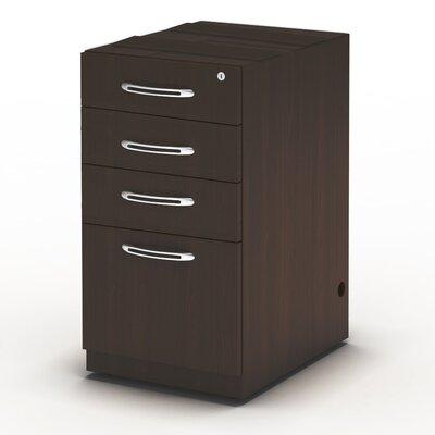 Aberdeen 27.5 H x 15.25 W Desk File Pedestal Finish: Mocha, Size: 27.5 H x 15.25 W x 20D