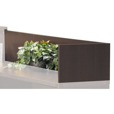 Aberdeen 14 H x 48 W Desk Privacy Panel Finish: Mocha
