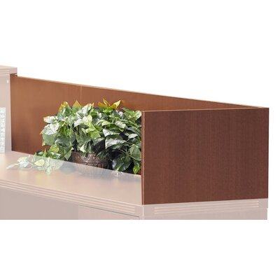 Aberdeen 14 H x 48 W Desk Privacy Panel Finish: Cherry