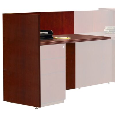 Luminary Series 29 H x 48 W Left Desk Return Finish: Cherry