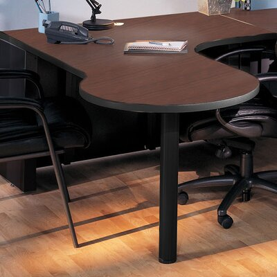 P Table Base Finish: Black, Top Finish: Crown Cherry / Black, Orientation: Left