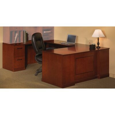 Sorrento Series 2-Piece U-Shape Desk Office Suite Finish: Espresso Veneer, Orientation: Right Product Picture 32