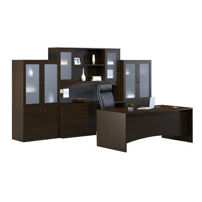 Brighton 7-Piece Series Standard Desk Office Suite Finish: Mocha Product Picture 32