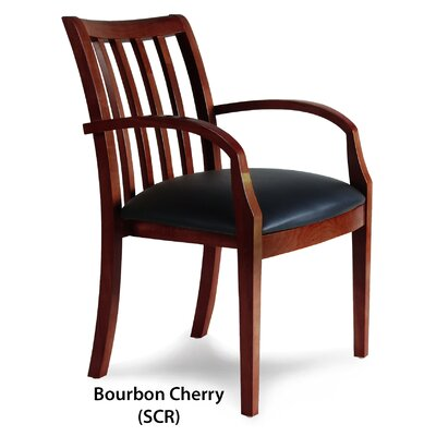 Leather Guest Chair Finish: Bourbon Cherry Veneer