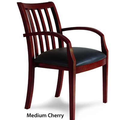 Leather Guest Chair Finish: Medium Cherry Veneer