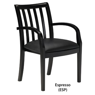 Leather Guest Chair Finish: Espresso Veneer