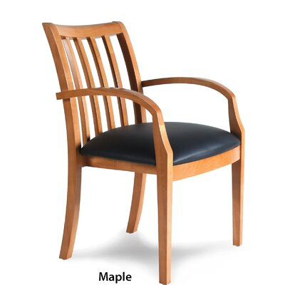 Leather Guest Chair Finish: Maple Veneer Product Image 8041