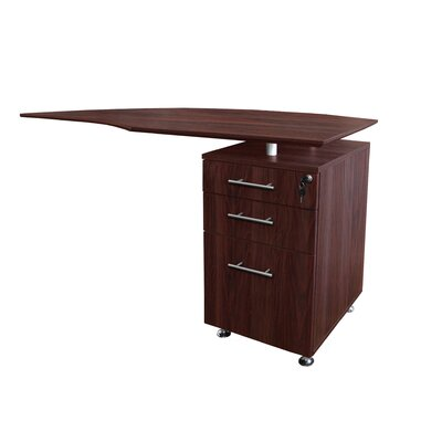 Medina Series 29.5 H x 63 W Right Desk Return Finish: Mahogany