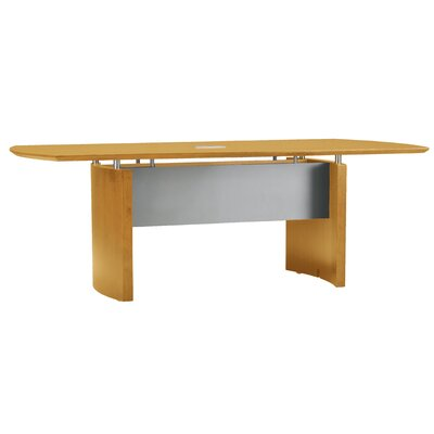 Napoli Curved End Conference Table Finish: Golden Cherry, Size: 8 L